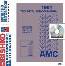 1981 AMC Spirit Concord Eagle Service Shop Repair Manual CD Engine Drivetrain OE