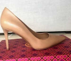 Tory Burch Elana pumps nude beige heels size 10.5 M NEW