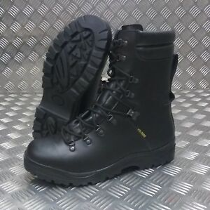 Genuine British Army Goretex Cold / Wet Weather Assault Black Leather ECW Boots