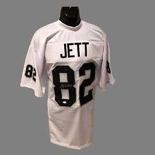 Oakland Raiders, James Jett Autographed custom pro style White Jersey w/JSA