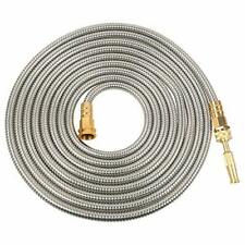 Stainless Steel Metal Garden Hose 304 Stainless Steel Water Hose With 50ft