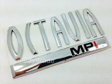 SKODA OCTAVIA MPI Chrome Badge Emblem Logo Trunk