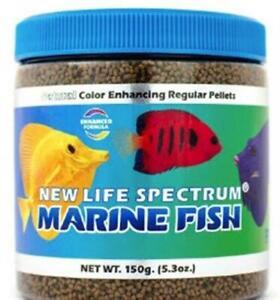 New Life Spectrum Marine Fish Food Regular Color Enhancing Sinking Pellet 150g