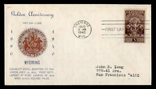 DR WHO 1940 CHEYENNE WY WYOMING STATE 50TH ANNIVERSARY FDC C187057