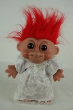 Russ Dam troll wedding dress outfit red hair 18 cm 80's