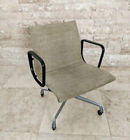 1980s Eames Herman Miller Aluminum Group Executive Desk Chair Beige Needs Repair