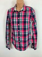 WOMENS JACK WILLS MULTICOLOURED CHECK PATTERN BLOUSE/SHIRT SMART/CASUAL SIZE 8