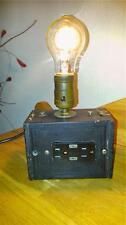 Brownie Kodak Box Camera Lamp w/ USB Charging Outlets