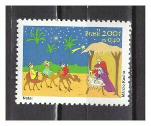S24273) Brasil 2001 MNH Christmas 1v
