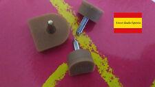 2 Tapas BEIGE para tacones de mujer sin Ruido 9 mm