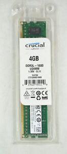 Crucial 4GB Desktop Memory RAM DDR3L 1600 MHz PC3-12800 CL11 240pin Non ECC New