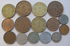 Iceland # 15 old coins for 1923-1942,circulated,  Iceland Kingdom . Rare coins.