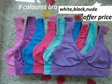 Women's Seamless Sports Bra Wire Free Comfort Workout Yoga Bras Pack of 3