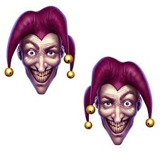 Scary Joker 2x Stickers Laptop Fridge Guitar Skateboard Motorcycle Jocker PC #01