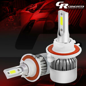 2 PCS 6000K H3 WHITE LED HIGH/LOW BEAM HEADLIGHTS REPLACEMENT BULBS+COOLING FAN