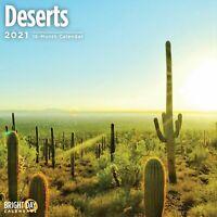 2021 Deserts 12 x 12 Wall Calendar Beautiful Landscape Scenic