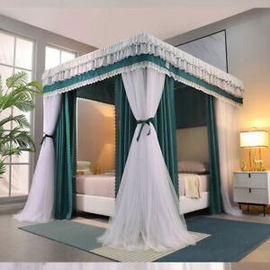 newly listed bed canopy mosquito net double layers netting lace valances tubes