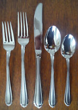 New listing Gorham Stainless Melon Bud Frosted (1)- 5 piece Place Setting - New Unused
