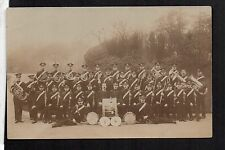 Oldham - Moorside Brass Band - real photographic postcard