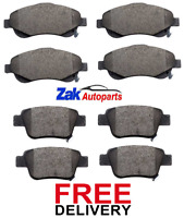 FOR TOYOTA COROLLA VERSO 2.0 2.2 D-4D 2004-2009 FRONT & REAR BRAKE PADS SET