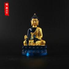 Tibetan Buddhism Hand painting resin Gilt statue Medicine Buddha