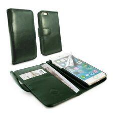 Fundas y carcasas color principal verde de piel para teléfonos móviles y PDAs