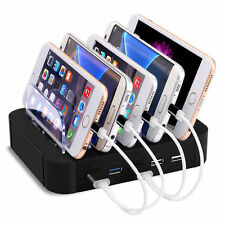 5 Port USB Hub Charging Dock Station Desktop Charger Stand Adapter iPhone Tablet