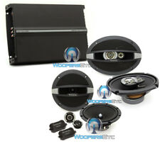 """3pkg FOCAL R165S2 6.5"""" COMPONENT + R-690C 6X9"""" SPEAKERS + R4280 4-CHANNEL AMP"""