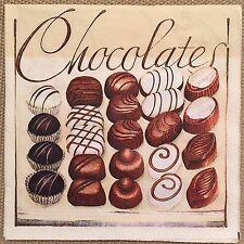 2 single paper napkins for decoupage or collection Serwetki Servietten Chocolate