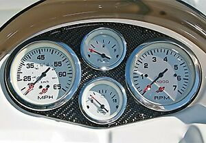 Genuine Mercury Marine Voltmeter White face/Chrome Bezel 895286A41