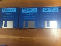 Ishar 2 Commodore Amiga Game Disks Only 3 Disks Tested And Working Great