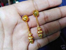 ,One gram gold plated ball earrings long  latkan earrings