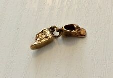 Super Quality Very Solid Little 9CT Gold Pair of Shoes or Boots Charm Solid