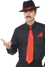 Mens Gangster Al Capone Bugsy Malone 1920s Trilby Hat Fancy Dress Costume Kit