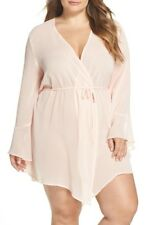 Only Hearts Coucou Lola Wrap Robe, Pale Rose. Plus Size 2X. New.