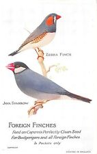 POSTCARD  BIRDS  CAPERNS  FOREIGN  FINCHES
