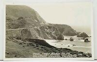 Calif Rocky Creek Bridge Carmel San Simeon Roosevelt Hwy Frasher's Postcard I12