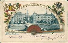Ansichtskarte Heilbronn 1901 Prägekarte Wappen Fächer  (Nr.856)