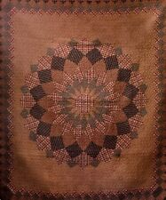 Alexandra Dahlia Quilted Throw Blanket - Quilt Classic Pattern Antique Vintage