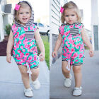 AU Baby Girls Casual Outfits Clothes Hooded T-shirt Tops+Pants Toddler Kids Set