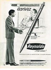 PUBLICITE ADVERTISING  1962   REYNOLDS   stylo bille
