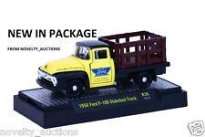 L38 32500 36 M2 MACHINES AUTO TRUCKS 1956 FORD F100 STAKE BED TRUCK 1:64