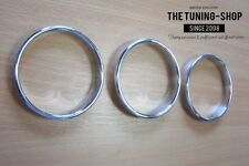 For Classic Mini Cooper Chrome Dash Rings Surrounds New Polished Alloy Set of 3