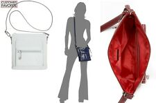 Giani Bernini Women's Crossbody Bag glazed Leather Messenger Bag Arctic Ice