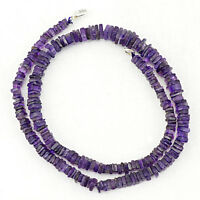 170.00 CTS NATURAL UNTREATED SINGLE STRAND RICH PURPLE AMETHYST BEADS NECKLACE