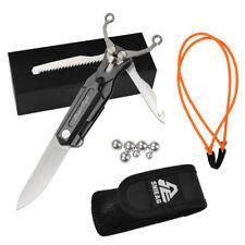 1 Pocket Survival Multi Tool Folding Knife with Slingshot Outdoor Sniper Eagle