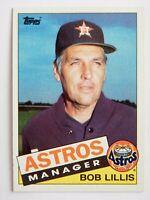 Bob Lillis #186 Topps 1985 Baseball Card (Houston Astros) VG