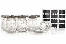 Set Of 12 Mason Style Spice Jars With Spice Rack And Spice Labels 5oz