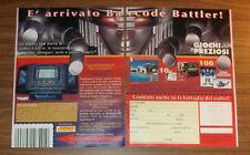 Seltene Werbung TOMY BARCODE BATTLER Robo Machines Transformers Italien 1993