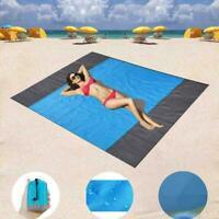 275*305cm Sand Free Beach Mat Picknickdecke Teppich Matratze Pad Outdoor Pa U7T2